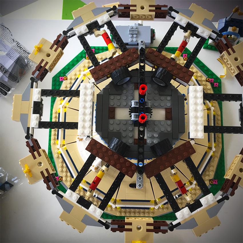 lego draaimolen | aandrijving bovenzijde