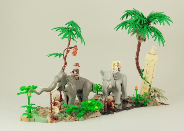 LEGO Olifanten MOC 3 - veel bouwplezier