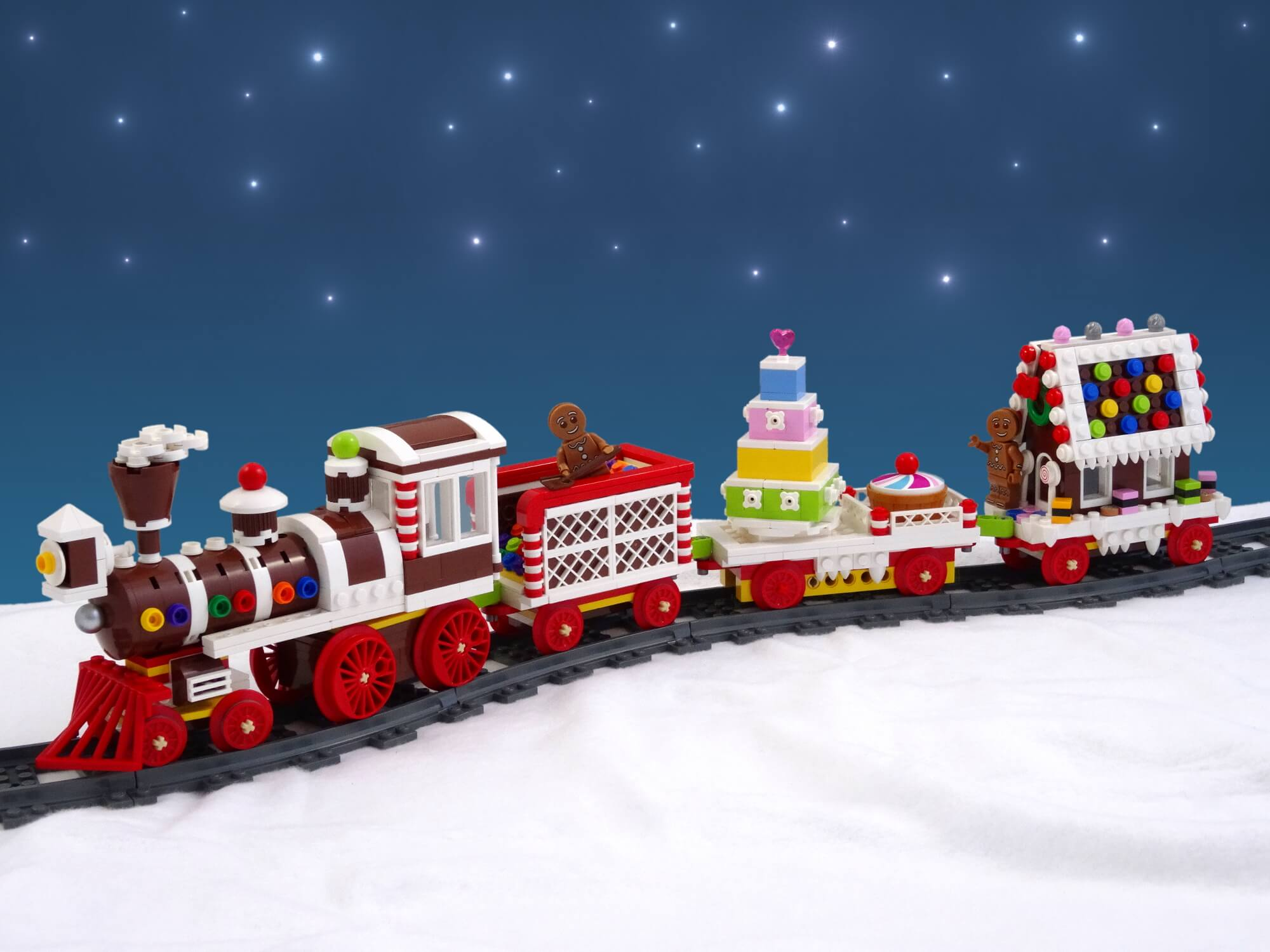 LEGO Gingerbread Train van Koen