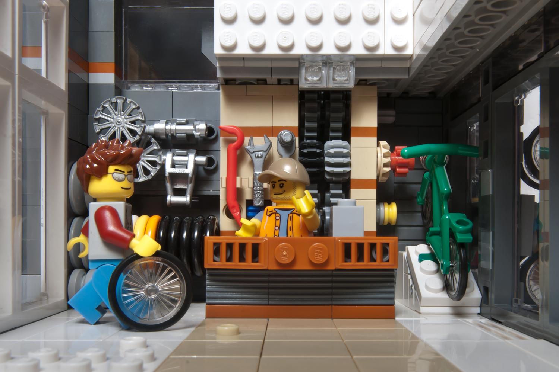 Interieur LEGO Fietsenwinkel