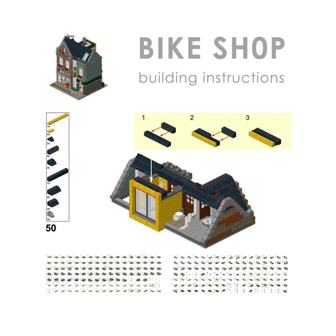 LEGO Fietsenwinkel bouwinstructies