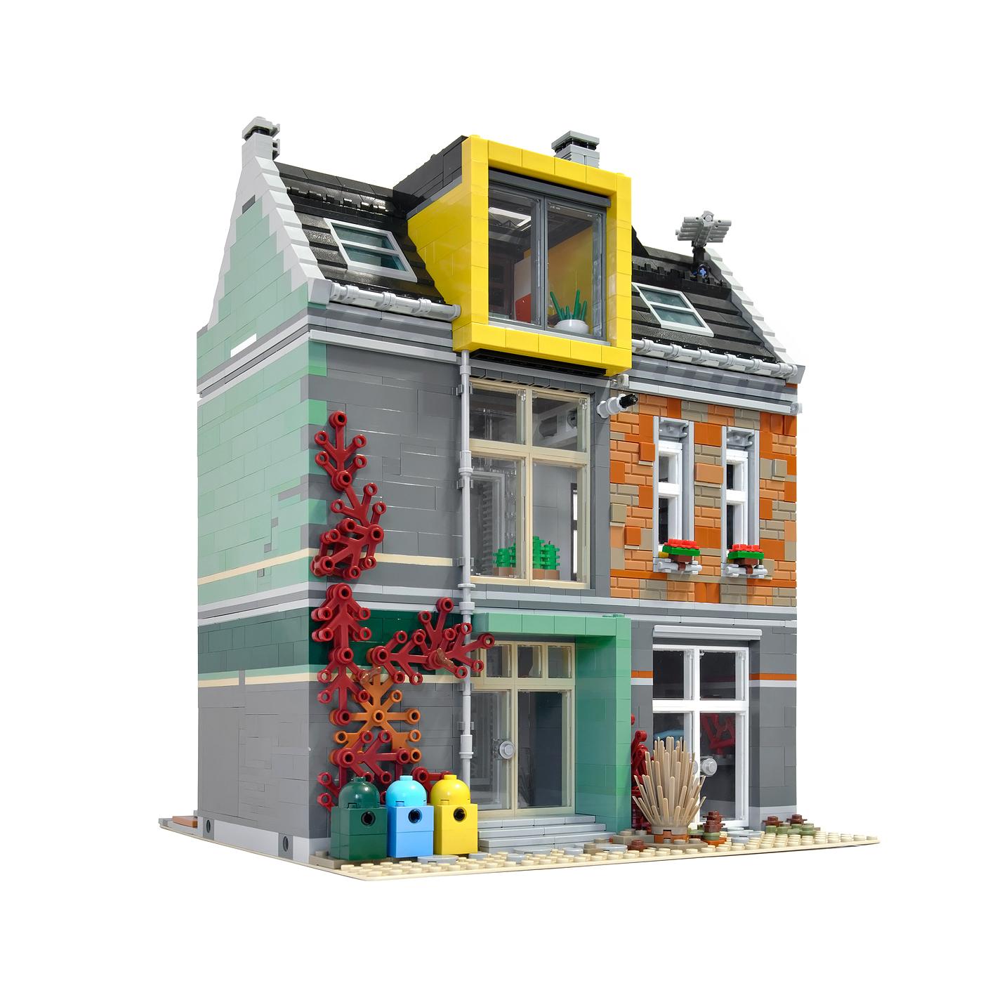 achterzijde LEGO Fietsenwinkel