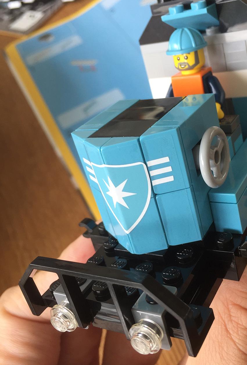 LEGO Maersk Trein front
