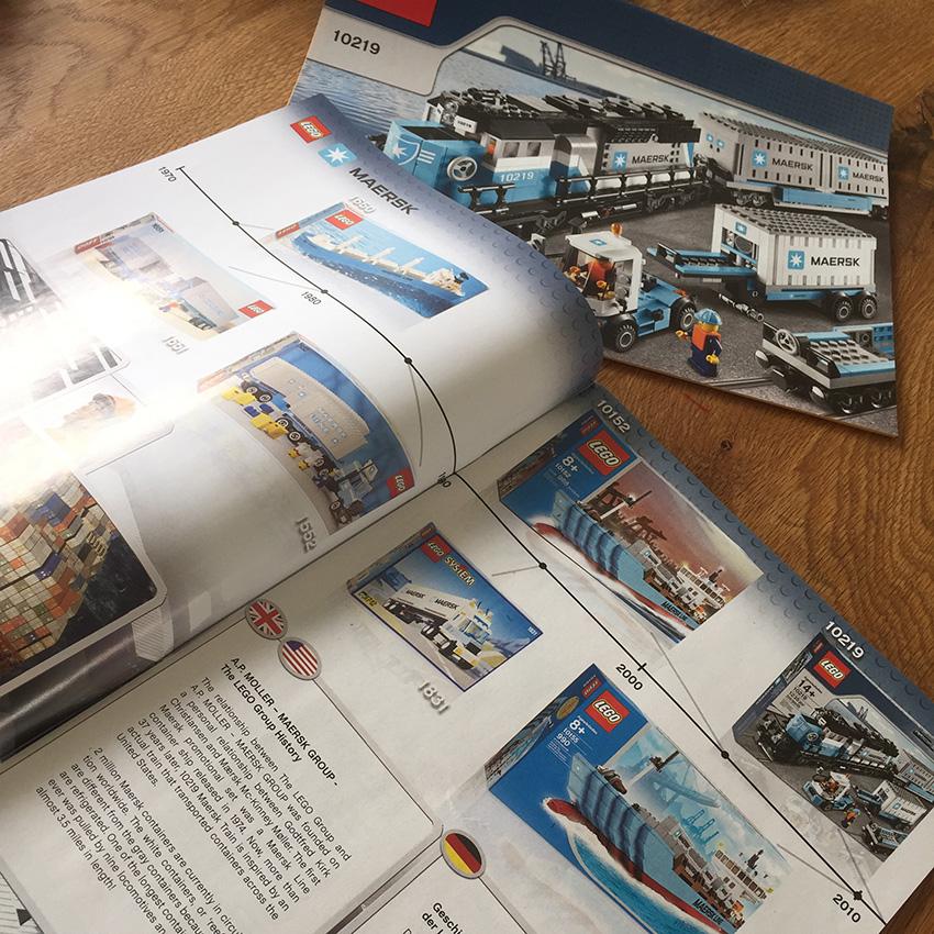 LEGO Maersk Trein instructieboekje