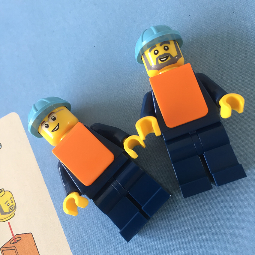 LEGO Maersk Trein minifiguren