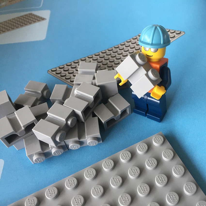 LEGO Maersk Trein minifiguur brick