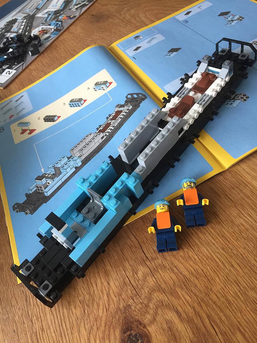 LEGO Maersk Trein opbouw