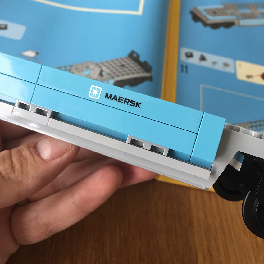 LEGO Maersk Trein wagon sticker
