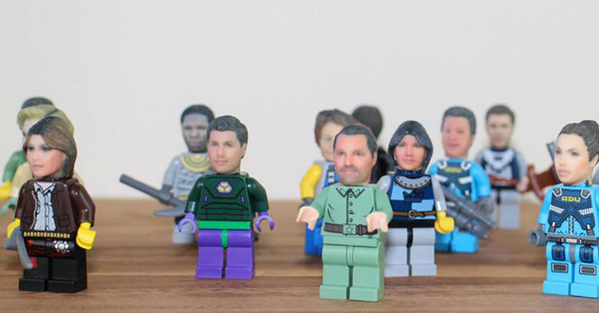 LEGO poppetje met eigen gezicht