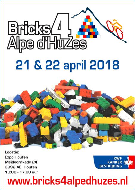 Poster Bricks 4 Alpe d'HuZes LEGO beurs voor het goede doel