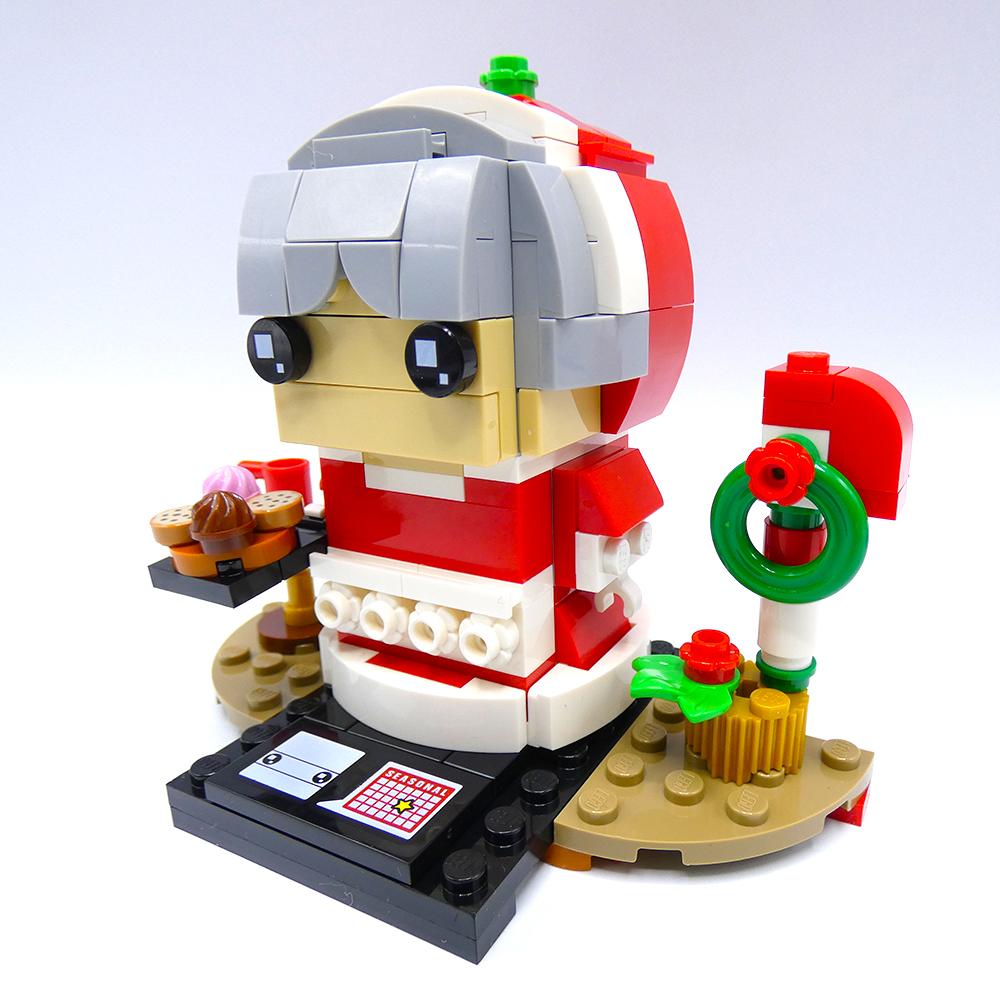 Review LEGO Brickheadz 40274 Kerstvrouw